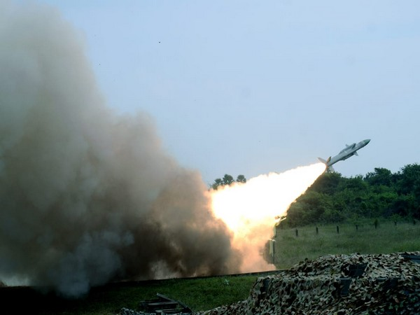 Akash air defence missiles firing by Indian Air Force during the CGWF-2020 exercise