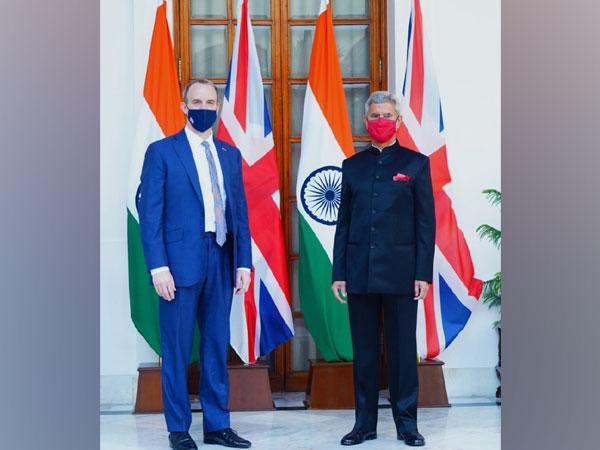 United Kingdom Foreign Secretary Dominic Raab meet External Affairs Minister S Jaishankar