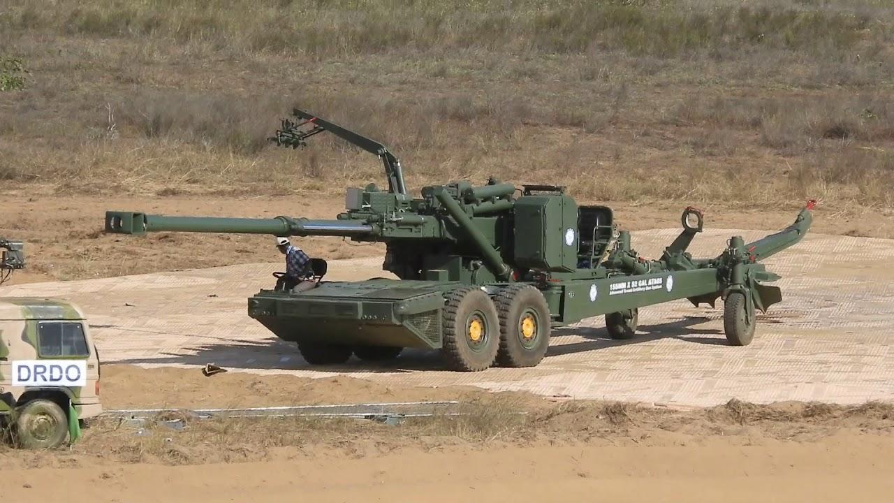 ATAGS howitzer undergoing trials in Balasore