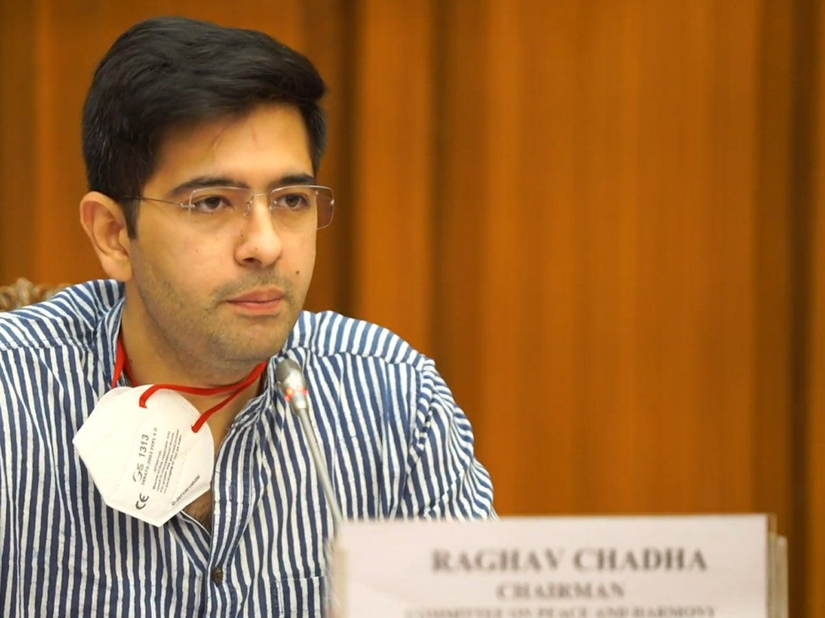 Delhi Jal Board Vice Chairman and AAP MLA Raghav Chadha