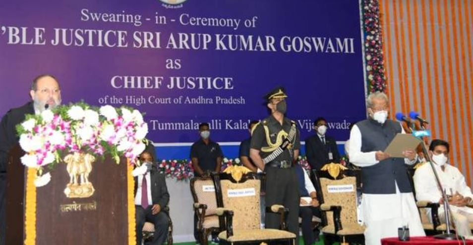 Arup Kumar Goswami sworn in as Chief Justice of AP HC