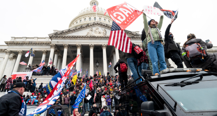 US Capitol and violent protests