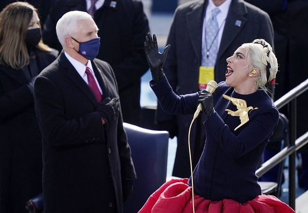 Lady Gaga delivers powerful rendition of US national anthem