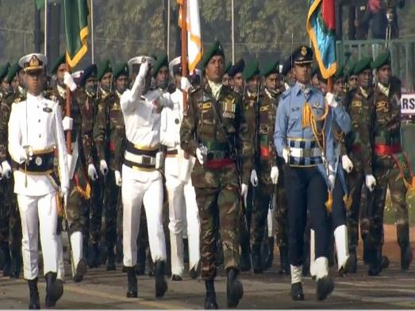 Band of Bangladesh tri-services participated in the Republic Day Parade