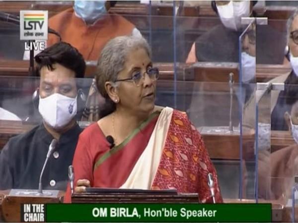Finance Minister Nirmala Sitharaman during her budget speech 2020-21 on Monday.