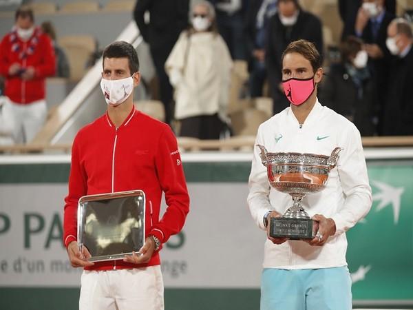 Novak Djokovic (L) and Rafael Nadal (R)
