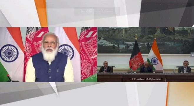 Prime Minister Narendra Modi and Afghanistan President Ashraf Ghani