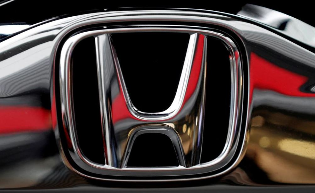 Honda's logo on its Modulo model is pictured at its showroom
