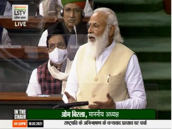 Prime Minister Narendra Modi in Lok Sabha on Wednesday.