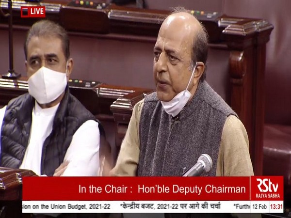 TMC's Dinesh Trivedi speaking in the Rajya Sabha on Friday.