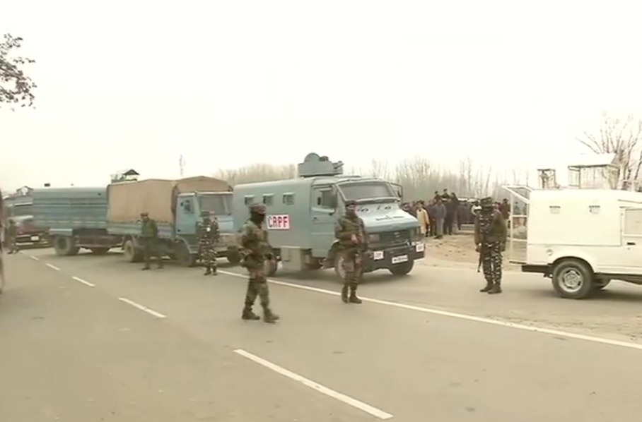 A suspicious object found at the railway crossing at Kenihama-Nowgam station; security deployed