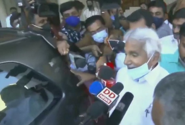 Congress leader and former Kerala chief minister Oommen Chandy