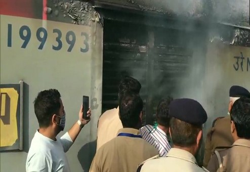 Fire broke out in the generator and luggage compartment