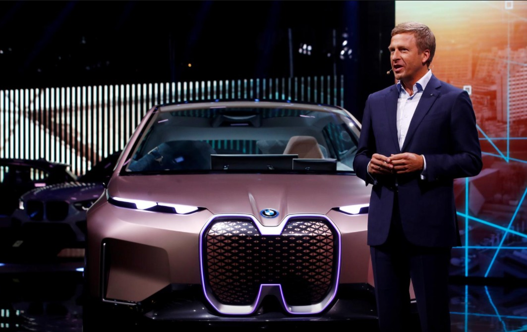 BMW German luxury carmaker new CEO Oliver Zipse, speaks at the Frankfurt Motor Show