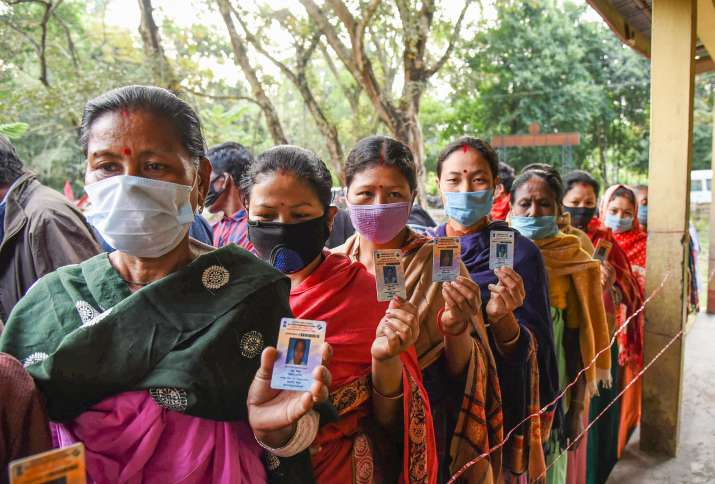 Assam during voting
