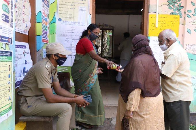 Polling booth in Thiruvananthapuram.
