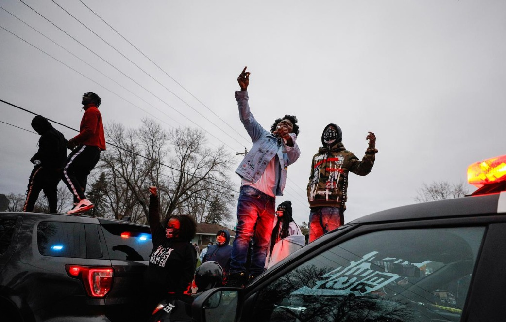 Protests erupted against police when an officer fatally shot a young Black man