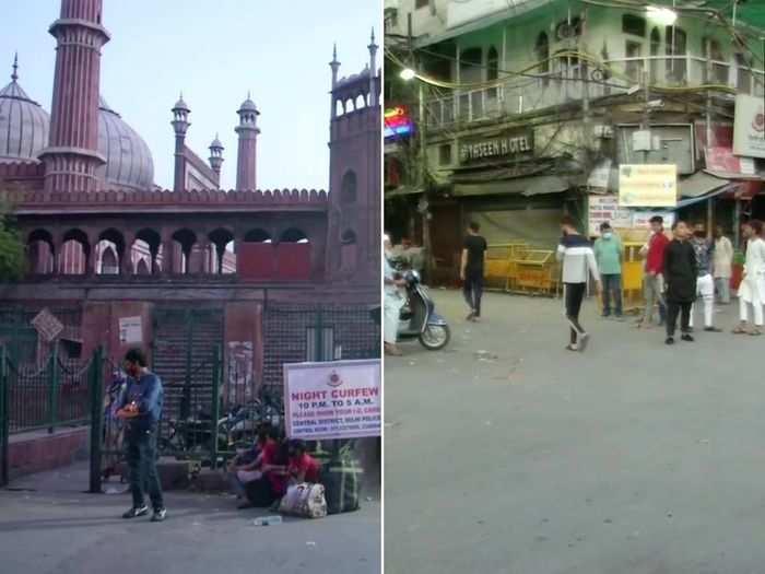 Visual from Delhi's Jama Masjid on Wednesday.