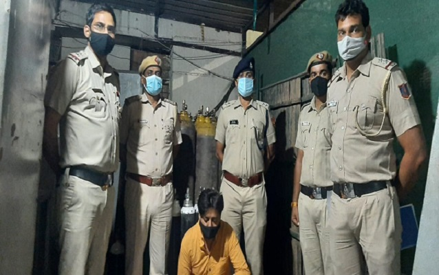 Oxygen cylinders recovered by Delhi Police