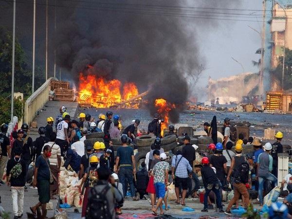 Protest in  Myanmar (File Photo)