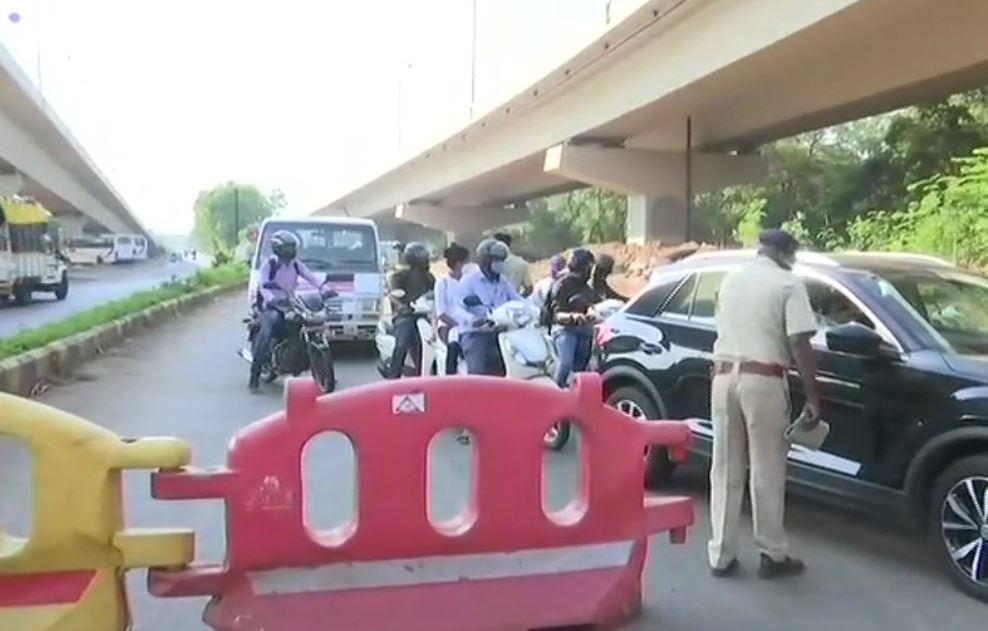 Lockdown imposed in Goa till 3rd May. Visuals from Panaji