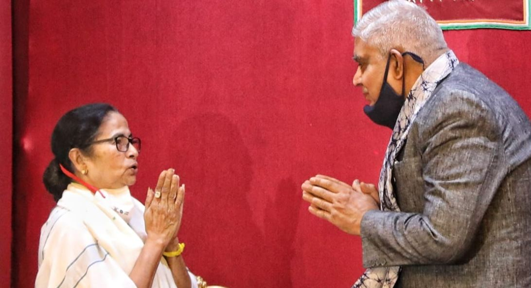 West Bengal Chief Minister Mamata Banerjee and WB Governor