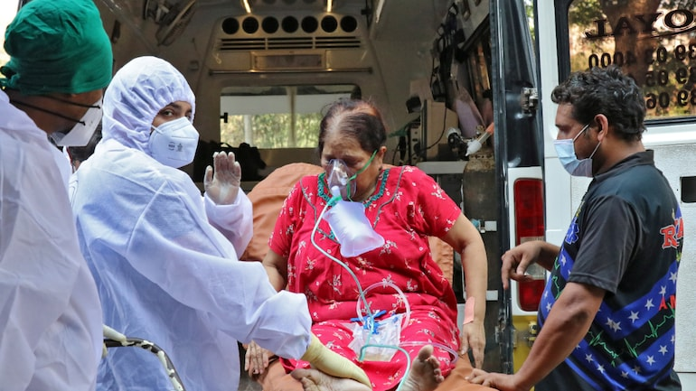 Woman being taken to hospital