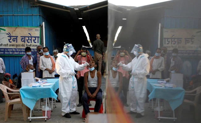 COVID-19 test being conducted in delhi