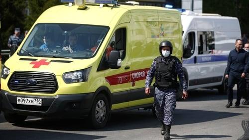 Injured being taken to Hospital
