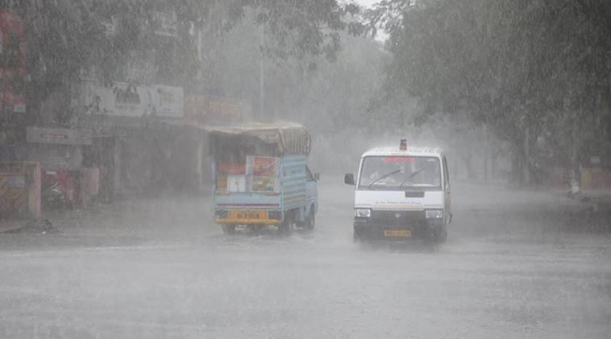 Heavy rains lash Ahmedabad.