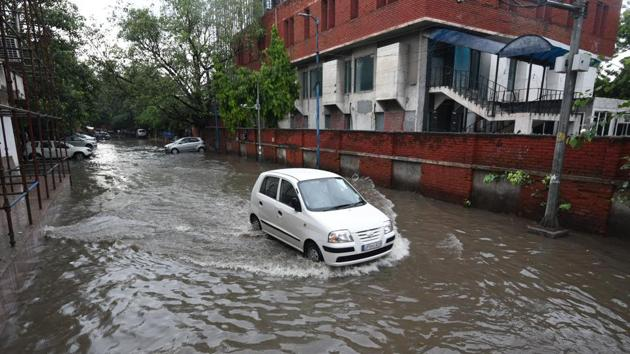 Waterlogged in Delhi