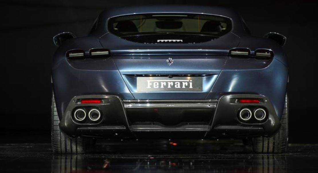 Ferrari Roma is unveiled during its first world presentation in Rome