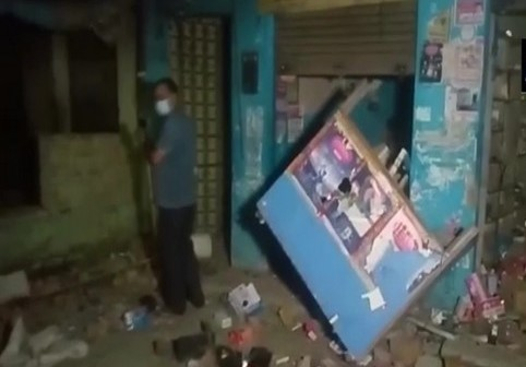 Several shops were ransacked