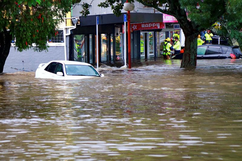 Floodwaters in New Zealand