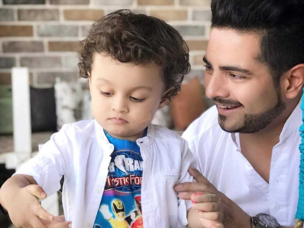 Karan Mehra and his son