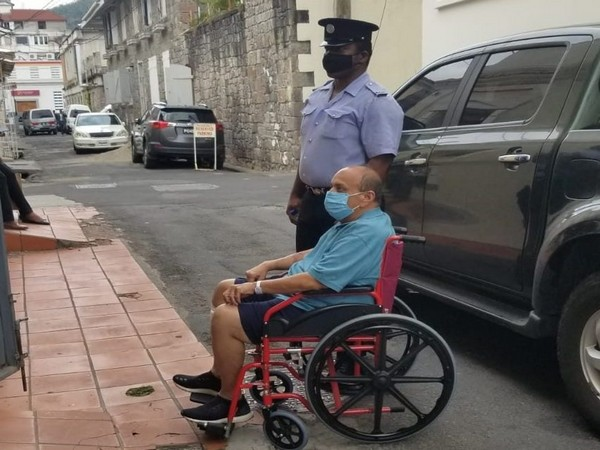 Indian fugitive businessman Mehul Choksi arriving at Dominican court on wheelchair