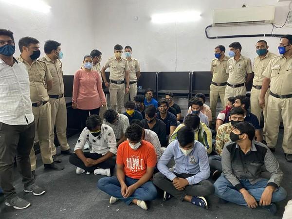The suspected caught in illegal international call centre raid