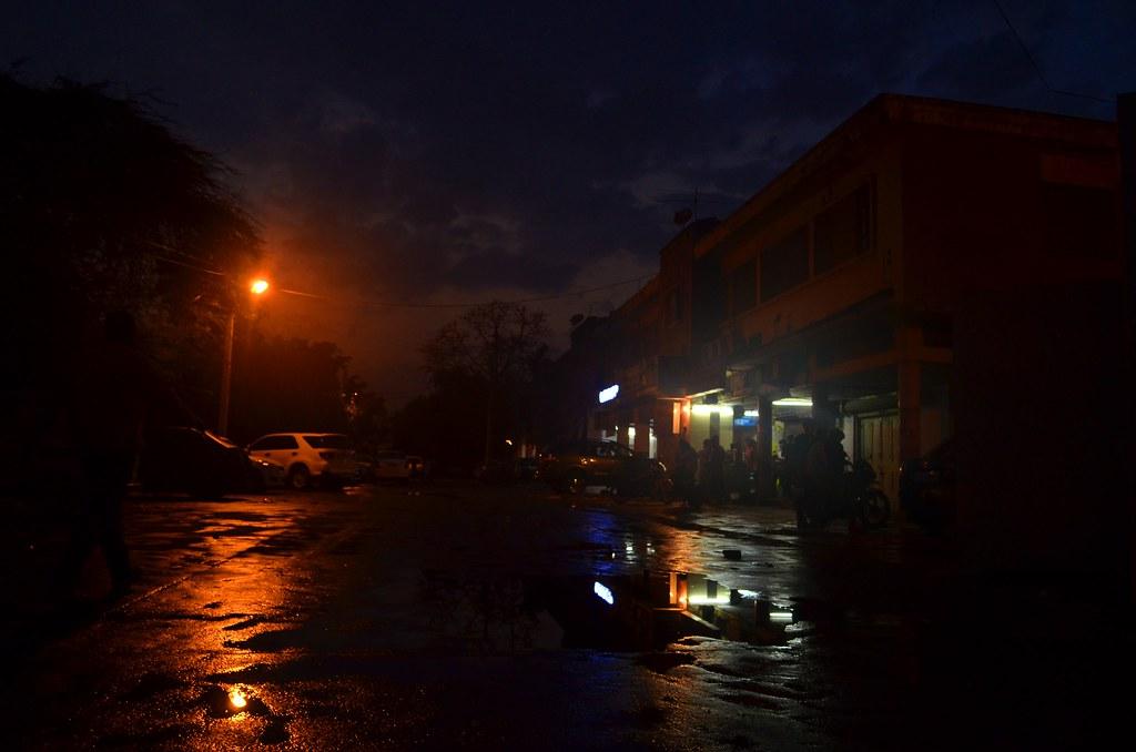 Rain in Delhi at Night