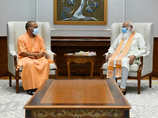 Uttar Pradesh Chief Minister Yogi Adityanath and Prime Minister Narendra Modi in Delhi