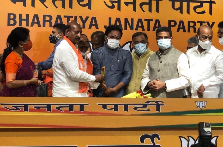 Former Telangana health minister Eatala Rajender joined the BJP