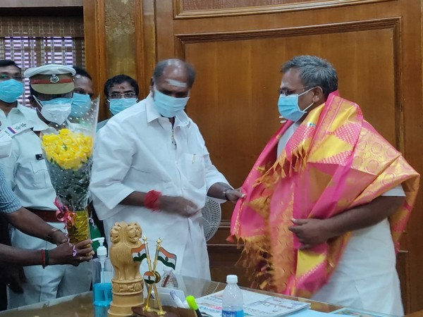 BJP MLA Embalam R Selvam was sworn in as the Speaker of Puducherry Legislative Assembly on Wednesday.