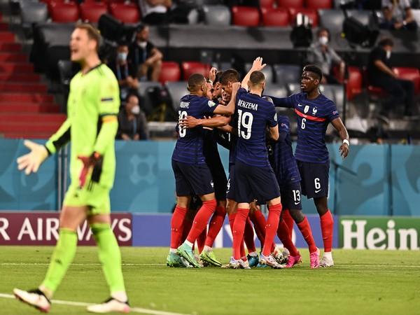 France players celebrating against Germany (Photo: Twitter/UEFA Euro 2020)