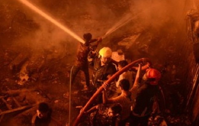 Fire in Factory in central Bangladesh
