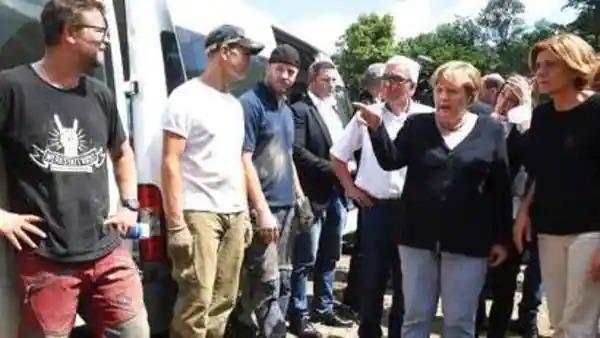 German Chancellor Angela Merkel  ai incident Spot