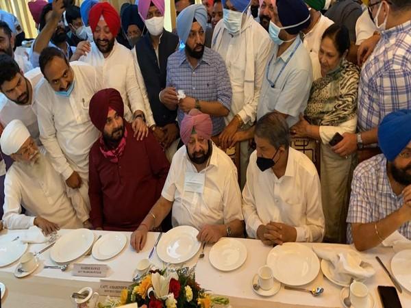 Punjab Chief Minister Captain Amarinder Singh meets Navjot Singh Sidhu