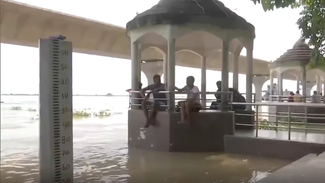 Ghats submerged