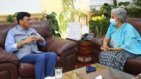 Union Minister Mansukh Mandaviya meets WHO Chief Scientist