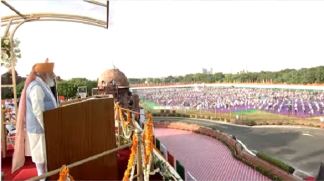 PM Modi Addressing the nation on Independence Day