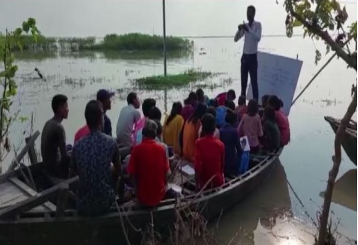 Class on Boat