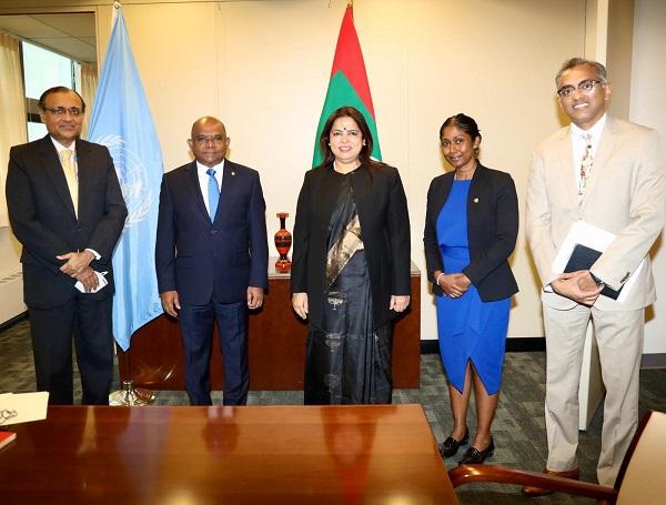 Union Minister Meenakshi Lekhi meets 76th UNGA President-elect
